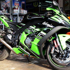 racefit black edition kawasaki zx10r 2016 titanium carbon slip on ท่อไอเสีย ท่อ คาวา