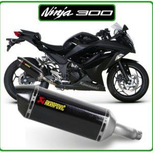 kawasaki ninja300 akrapovic slipon carbon ท่อ ท่อไอเสีย อาคา นินจา300