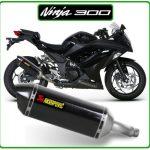ninja300 kawasaki akrapovic carbon