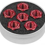 driven racing sprocket nut red